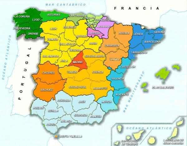 Mapa Tematico De Espana.Mapa Tematico